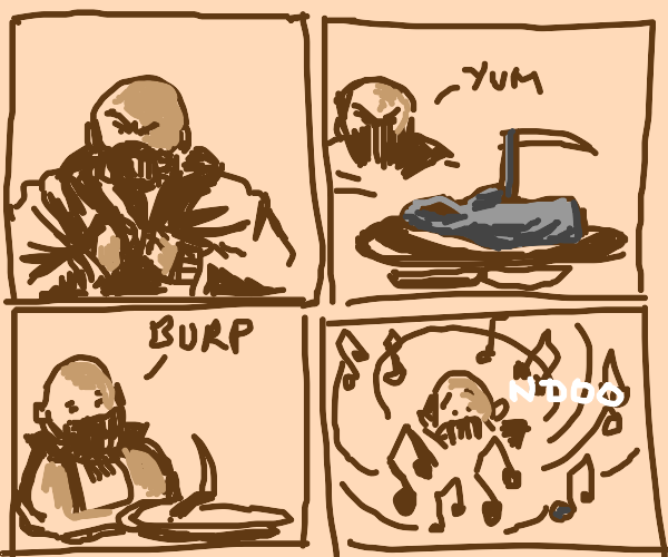 Bane the death eater is stuck in music