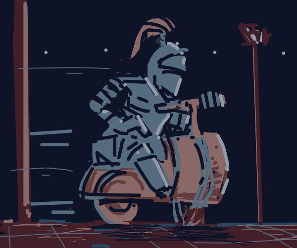 Knight on a Vespa