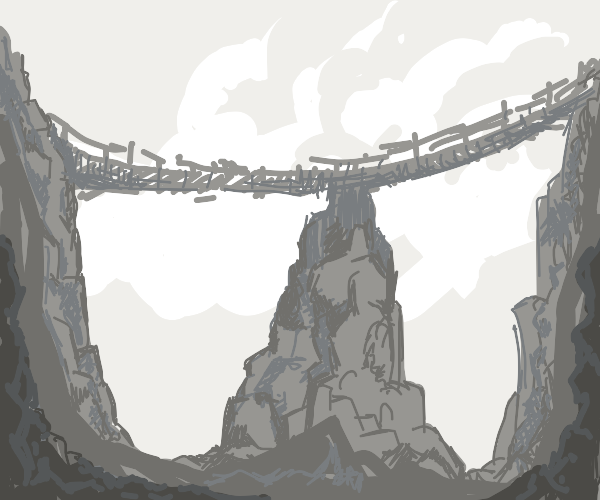 Bridge connecting two canyons