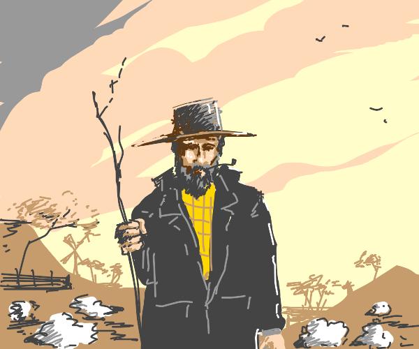 Farmer Hiking