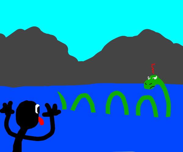Man Angers the Loch Ness Monster