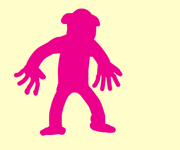 Pink creature with two right hands