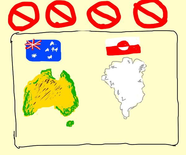 Australia + some northern island are banned
