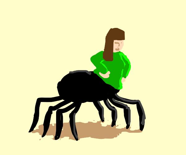 Brunette with spider bottom