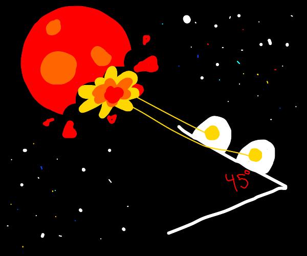 Angle laser eying mars