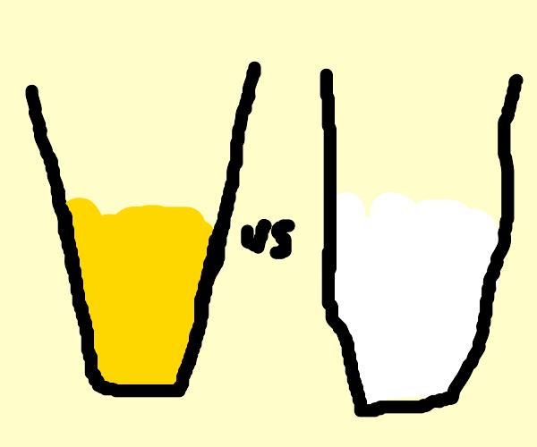 lemonade VS milk