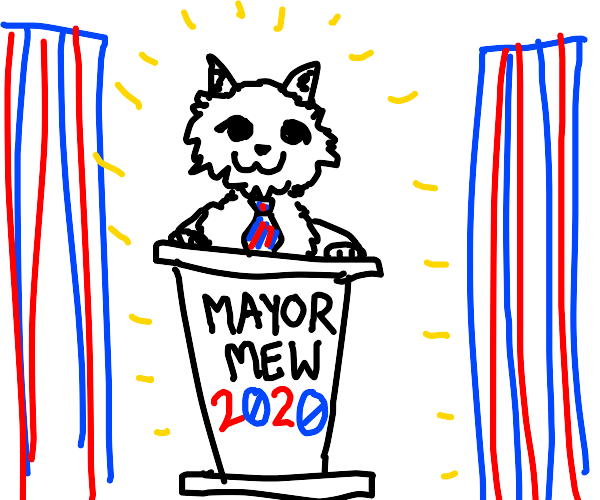 A cat elected as mayor