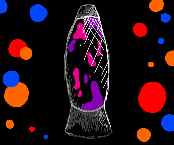 pink/purple lava lamp