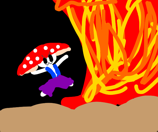 toad sets off a nuclear bomb