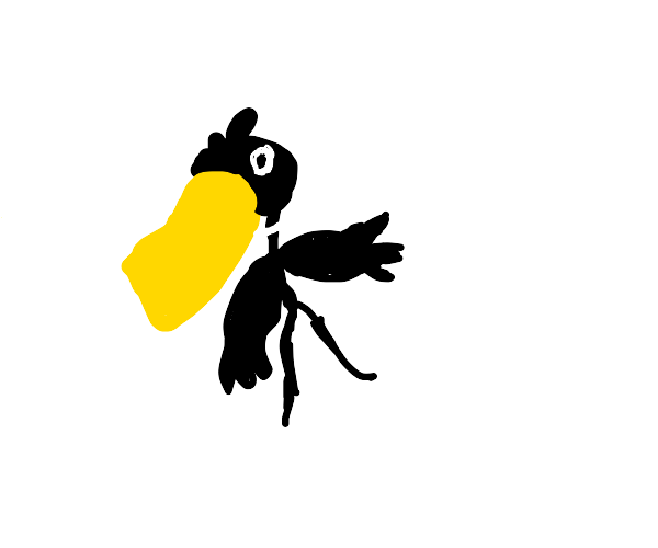a cross between Daffy Duck and Bellsprout