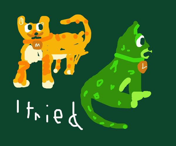 Mario and Luigi cats