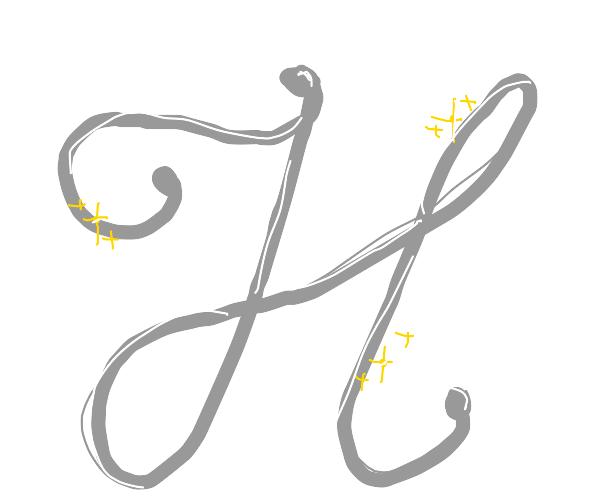 fancy letter H