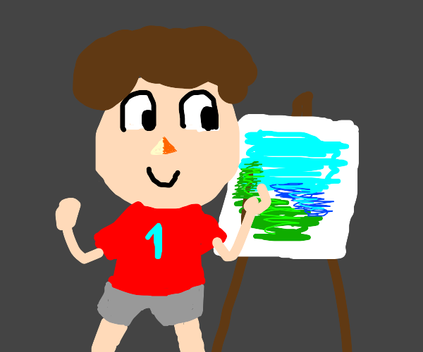 Villager from animal crossing painting