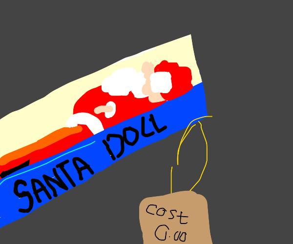 Decently priced Santa doll