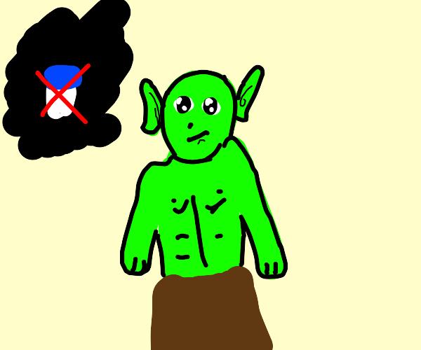 Lactose-intolerant goblin