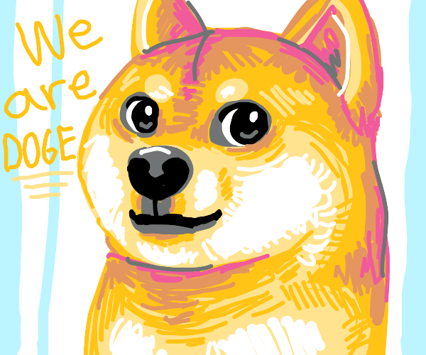 pastel-colored Doge