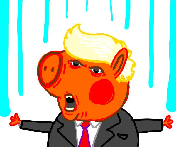 Peppa pig but trump