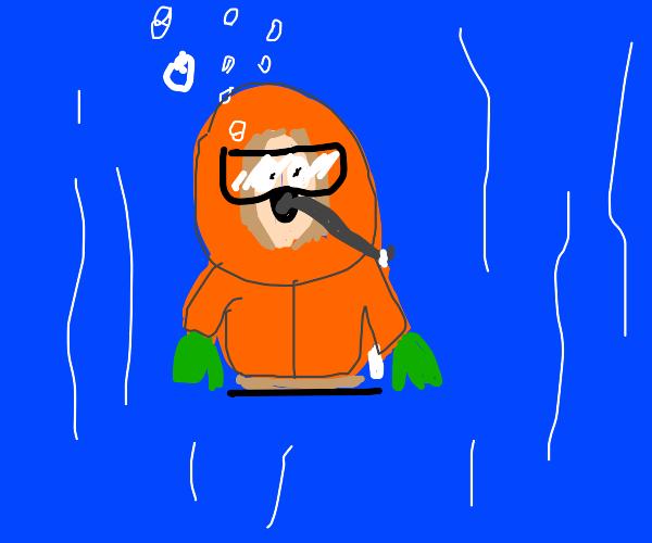 Kenny in sea diver suit