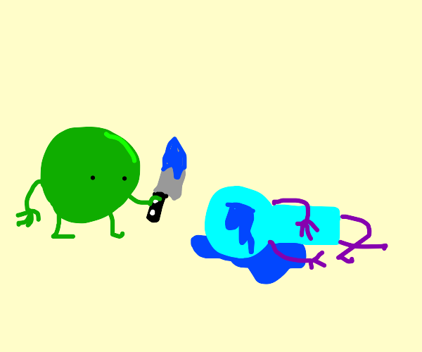 Pea killed a man in blue blood