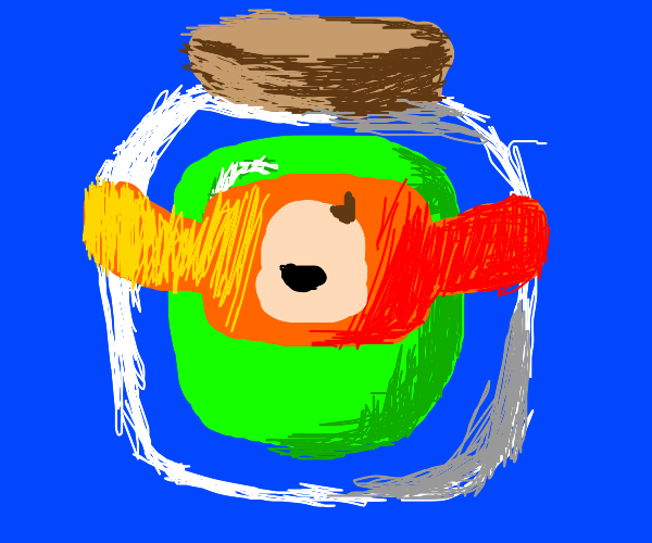 baby in a jar