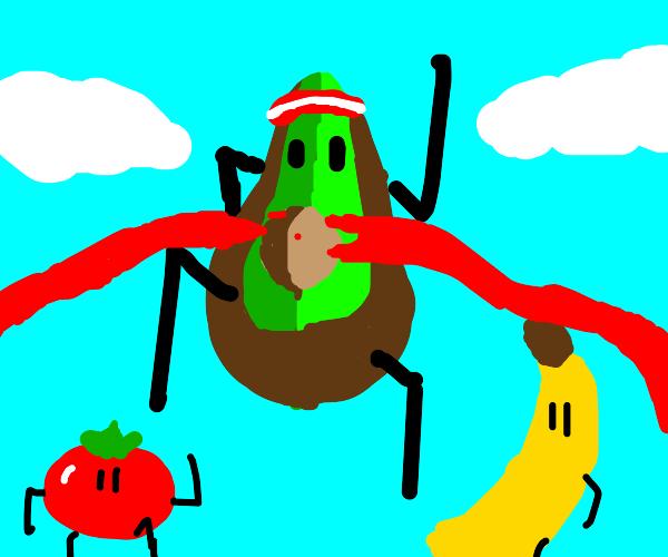 Avocado wins race