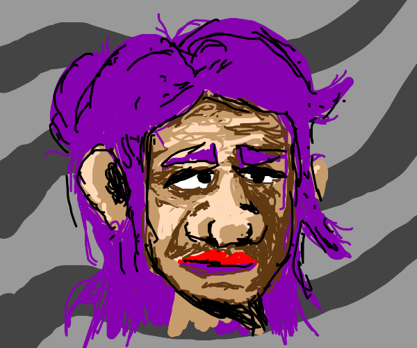 woman with purple hair are disgusting