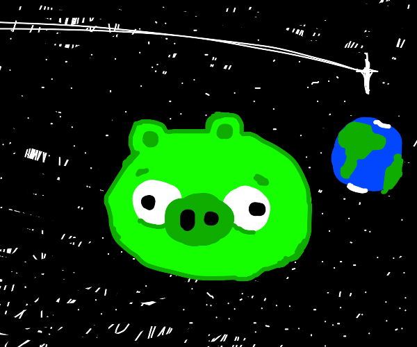Piggy in space