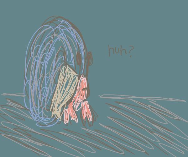 a crab enters a portal