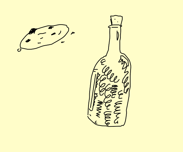 Cookie and a bottle of springs