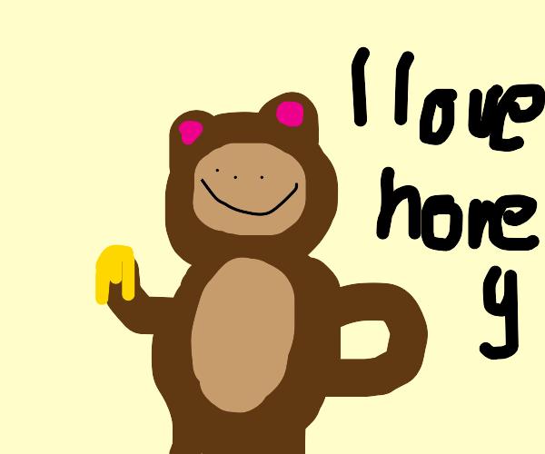 Bear loves honey