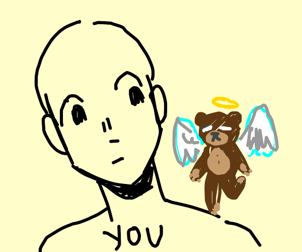 Teddy Bear Angel on your Shoulder