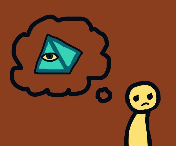 girl thinking about illuminati
