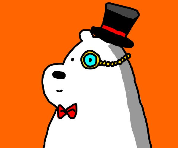 Posh polar bear