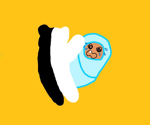 danganronpa bear scares baby