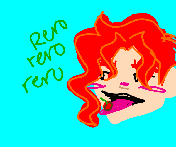 "Kakyoin doing the ""rerorerorero"""