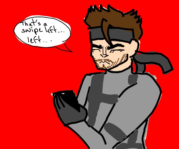Solid Snake (Metal Gear Solid) using Tinder