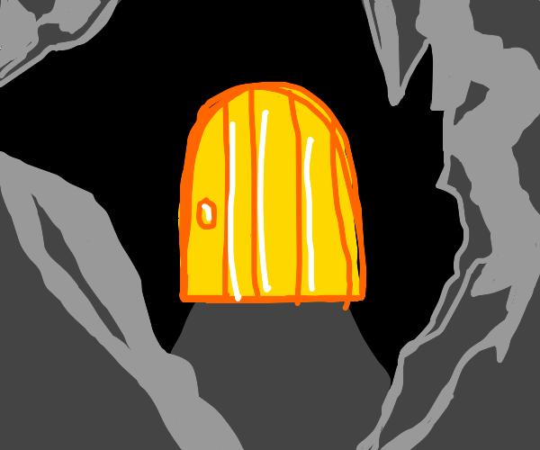 Golden Door in Cave