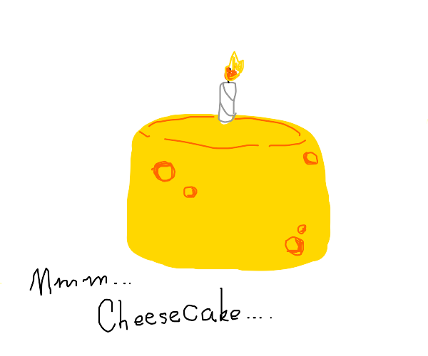 a cake with cheese