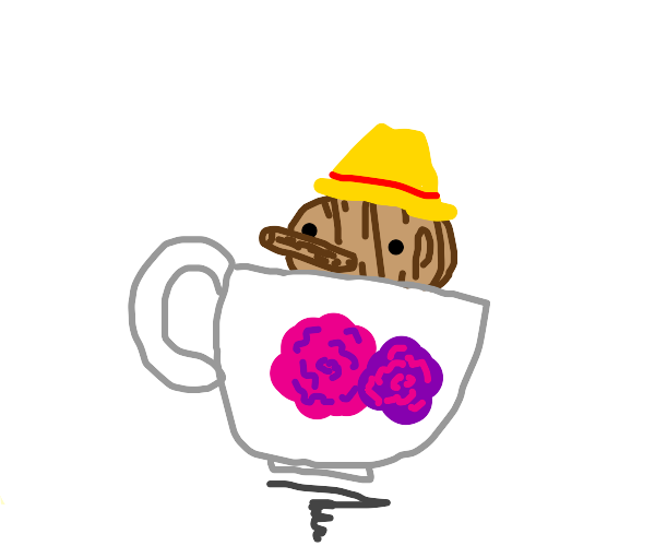 pinocchio in a teacup