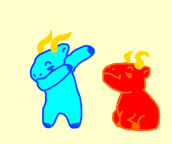 "Blue Goat Dances. Red Goat is... ""meh""."