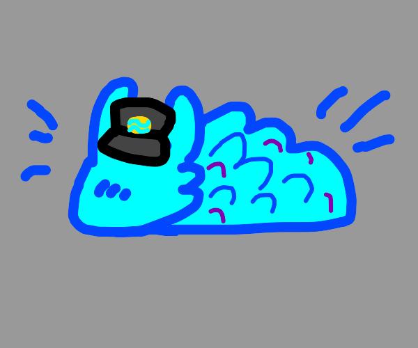dragon slug with a cool cap