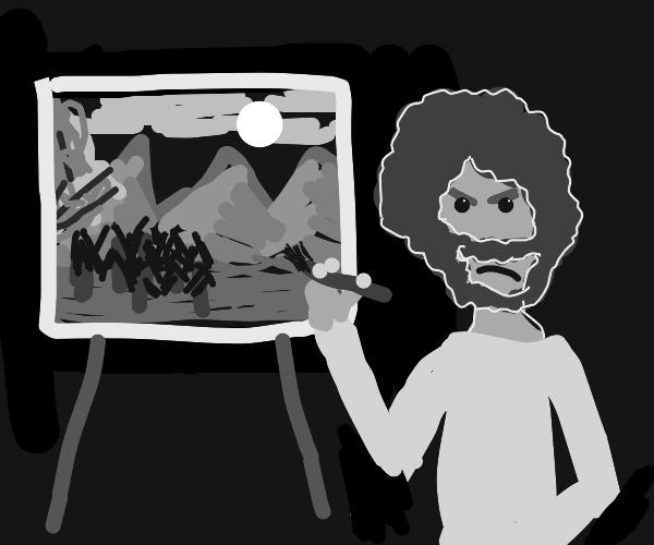 Annoyed artist