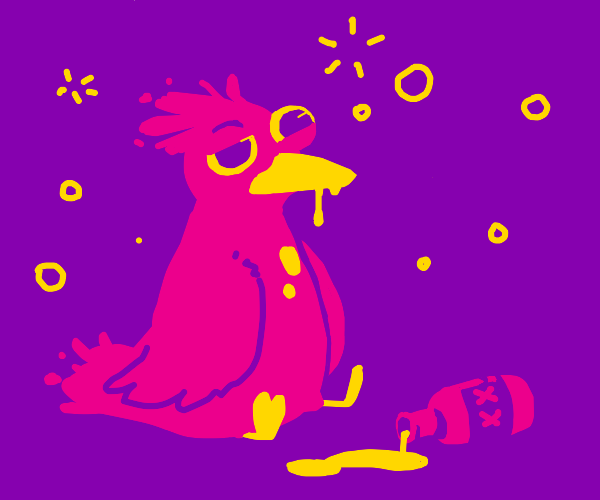 Alcoholic bird