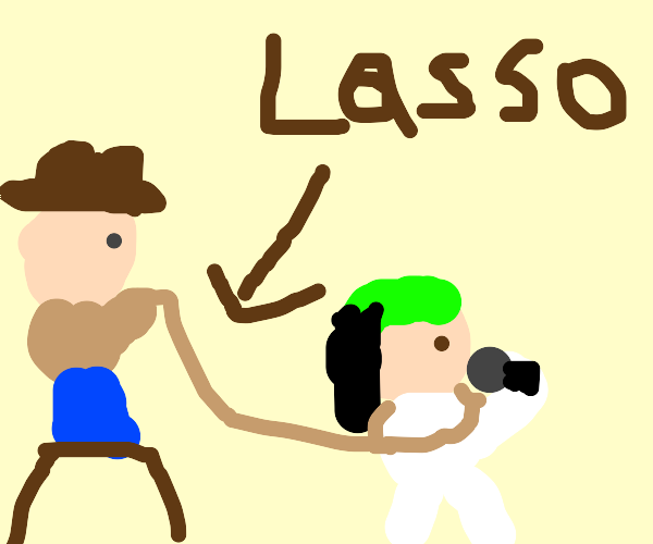 Yee haw man catches bad guy with lasso