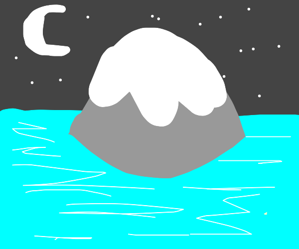 Mountain in the middle of an ocean