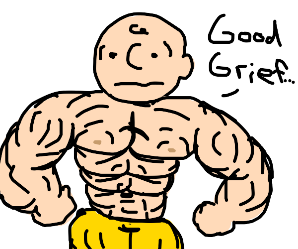 super buff charlie brown