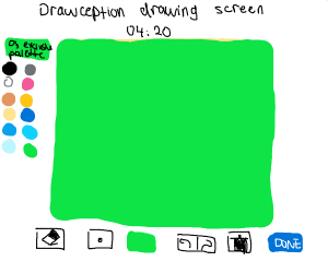 Drawception drawing screen