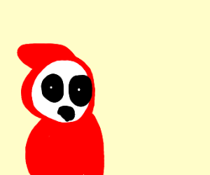 Shy Guy stares at you