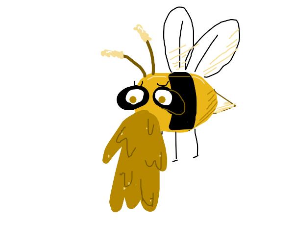 Bee vomiting