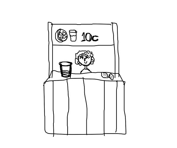 selling lemonade for 10c